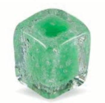 Pomolo in vetro per mobile Cubo 30mm verde pulegoso