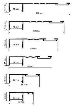 Roverplastik profilo falso telaio per serramenti 40