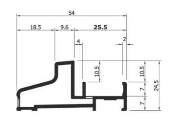 Profilo alluminio AL139 bianco