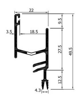 Profilo alluminio AL161 ROVERPLASTIK con Fissaggio ad incastro Bianco