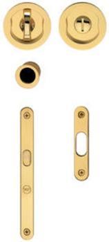 Valli & Valli  serie Trittico k1200 kit incasso per porte scorrevoli con serratura ottone satinato