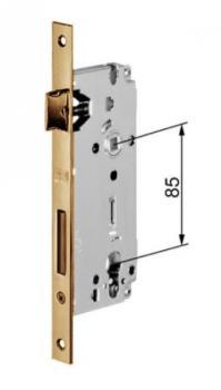 AGB serratura sicurezza a cilindro bordo quadro Entrata 50 finitura Bronzato Verniciato