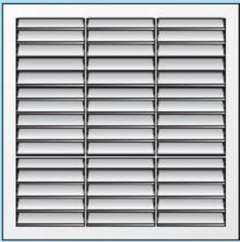 Griglia Areazione quadrata in plastica Edilplast griglia 340 x 340 Marrone con Rere da Incasso