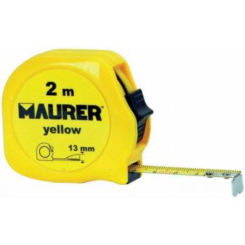 Flessometro Maurer 2m 13mm Yellow
