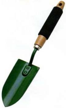 Trapiantatore largo in acciaio verniciato con manico in legno/spugna PAPILLON
