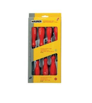 Set 7 cacciaviti (4 taglio + 3 croce) rossi