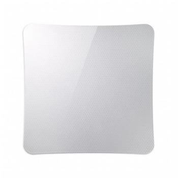 Griglia Aerazione AirDecor Vanità diametro supporto a muro 100 mm Carbonio Bianco