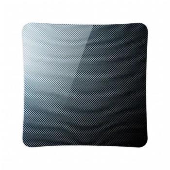 Griglia Aerazione AirDecor Vanità diametro supporto a muro 100 mm Carbonio Nero
