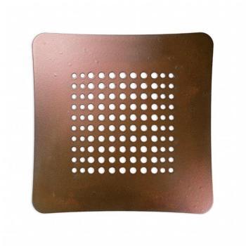 Griglia Aerazione AirDecor Astro diametro supporto a muro 100 mm Bronzo