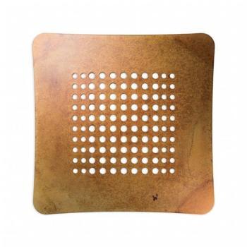 Griglia Aerazione AirDecor Astro diametro supporto a muro 100 mm Ruggine