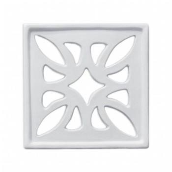 Griglia Aerazione Design AirDecor Flower diametro supporto a muro 100 mm Finitura Marmo Carrara