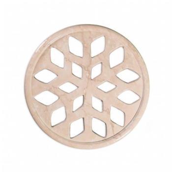 Griglia Aerazione Design AirDecor Snow diametro supporto a muro 100 mm Finitura Botticino