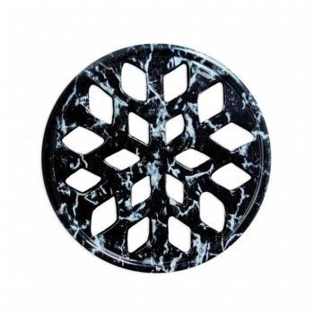 Griglia Aerazione Design AirDecor Snow diametro supporto a muro 100 mm Finitura Nero Marquinia