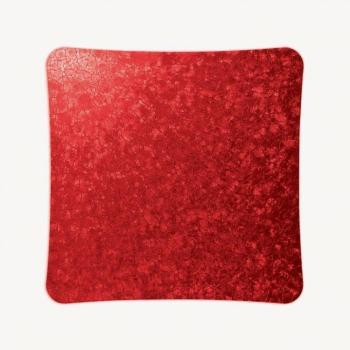 Griglia Aerazione Design AirDecor Alba diametro supporto a muro 100 mm Sale Rosso