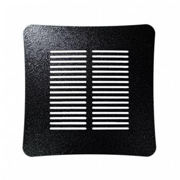 Griglia Aerazione Design AirDecor Aurora diametro supporto a muro 100 mm Forgia nera