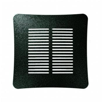 Griglia Aerazione Design AirDecor Aurora diametro supporto a muro 100 mm Forgia verde