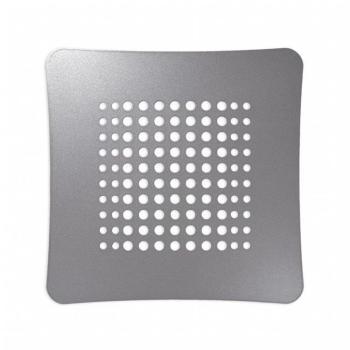 Griglia Aerazione Design AirDecor Luna diametro supporto a muro 100 mm Perla argento