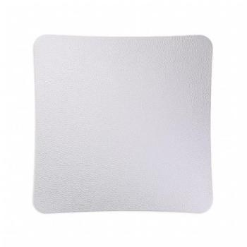 Griglia Aerazione Design AirDecor diametro supporto a muro 100 mm Vanity Pelle Bianca