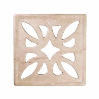 Griglia Aerazione Design AirDecor Flower diametro supporto a muro 120 mm Finitura Botticino