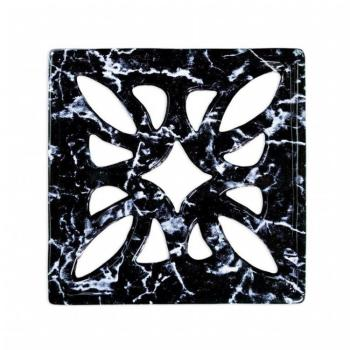 Griglia Aerazione Design AirDecor Flower diametro supporto a muro 120 mm Finitura Nero Marquinia