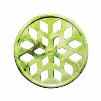 Griglia Aerazione Design AirDecor Snow diametro supporto a muro 120 mm Finitura Onice Verde