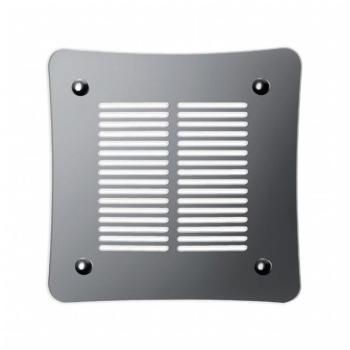 Griglia Aerazione Design AirDecor Aurora diametro supporto a muro 120 mm Lucida