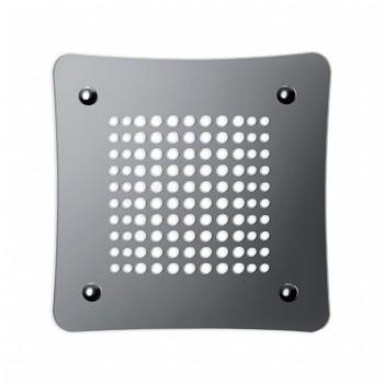Griglia Aerazione Design AirDecor diametro supporto a muro 120 mm Luna Lucida