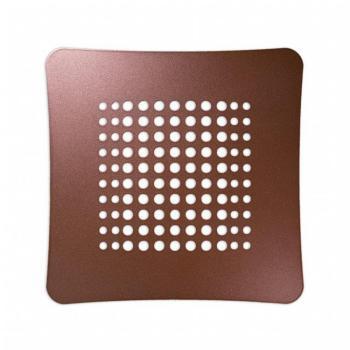 Griglia Aerazione Design AirDecor Luna diametro supporto a muro 120 mm Perla corten