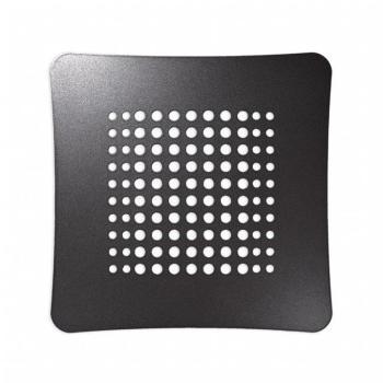 Griglia Aerazione Design AirDecor Luna diametro supporto a muro 120 mm Perla antracite