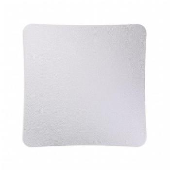 Griglia Aerazione Design AirDecor diametro supporto a muro 120 mm Vanity Pelle Bianca
