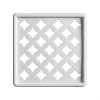 Griglia Aerazione Design AirDecor Venezia diametro supporto a muro 100 mm Bianca