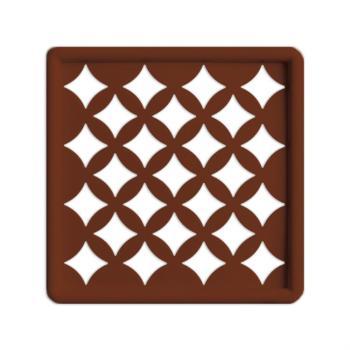 Griglia Aerazione Design AirDecor Venezia diametro supporto a muro 100 mm Rame