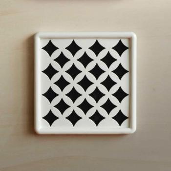 Griglia Aerazione Design AirDecor Venezia diametro supporto a muro 120 mm Bianca
