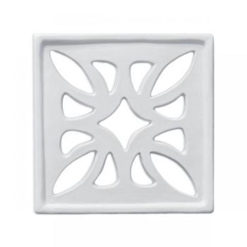 Griglia Aerazione Design AirDecor FLOWER diametro supporto a muro 120 mm Bianca