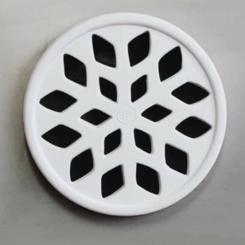 Griglia Aerazione Design AirDecor Snow diametro supporto a muro 100 mm Bianca