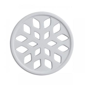Griglia Aerazione Design AirDecor Snow diametro supporto a muro 120 mm Bianca