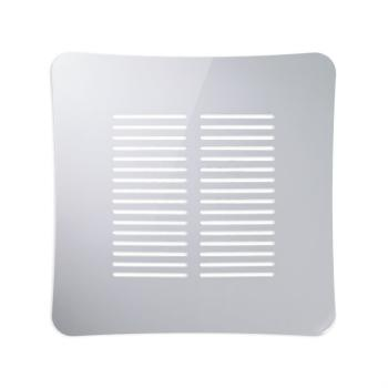 Griglia Aerazione AirDecor Gaia diametro supporto a muro 100 mm Bianco