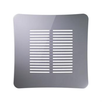 Griglia Aerazione AirDecor Gaia diametro supporto a muro 100 mm Grigio
