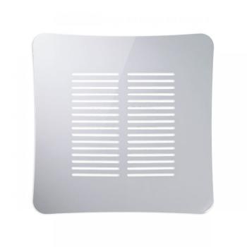 Griglia Aerazione AirDecor Gaia diametro supporto a muro 120 mm Bianco