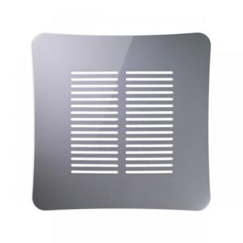 Griglia Aerazione AirDecor Gaia diametro supporto a muro 120 mm Grigio