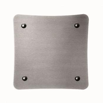 Griglia Aerazione Design AirDecor Alba diametro supporto a muro 100 mm Acciaio Satinato