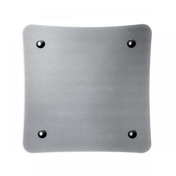 Griglia Aerazione Design AirDecor Alba diametro supporto a muro 120 mm Acciaio Satinato