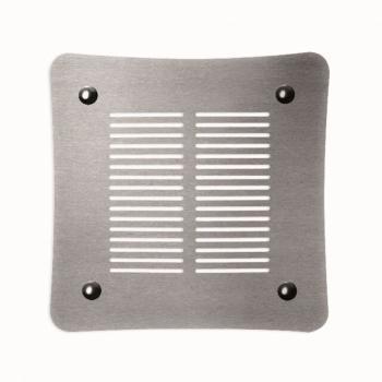 Griglia Aerazione Design AirDecor Aurora diametro supporto a muro 120 mm Acciaio Satinato