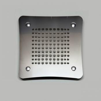 Griglia Aerazione Design AirDecor Luna diametro supporto a muro 120 mm Acciaio Satinato