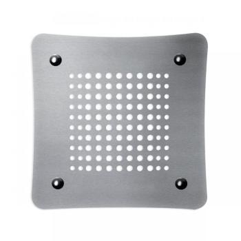 Griglia Aerazione Design AirDecor Luna diametro supporto a muro 120 mm Acciaio Satinato - CALORE