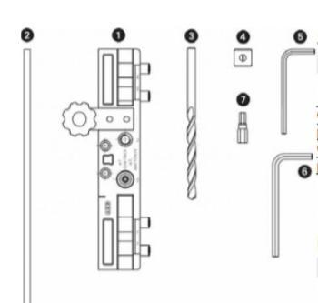 AGB kit dime per cerniere Zenit diametro 16 per porta a battente