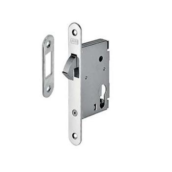 Alban Giacomo AGB serratura per porte scorrevoli a gancio foro YALE Entrata 45 mm Ottonato verniciato
