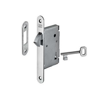 Alban Giacomo AGB serratura per porte scorrevoli a gancio foro Patent Entrata 50 mm Ottonato verniciato