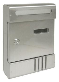 Cassetta Postale Alubox SE componibile 20,4x29x7 cm in Alluminio colore Argento
