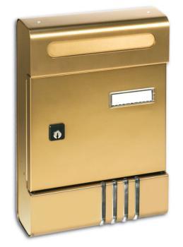 Cassetta Postale Alubox SE componibile 20,4x29x7 cm in Alluminio colore Bronzo